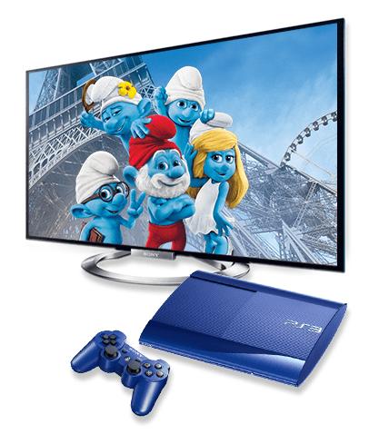 Gewinne mit Die Schlümpfe 2 eine schlumpfig blaue PS3 und einen Bravia TV