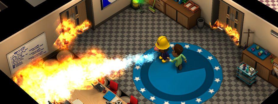 Euer Einblick in das im Rogue-Like-Feuerwehr-Spiel Flame Over auf PS Vita