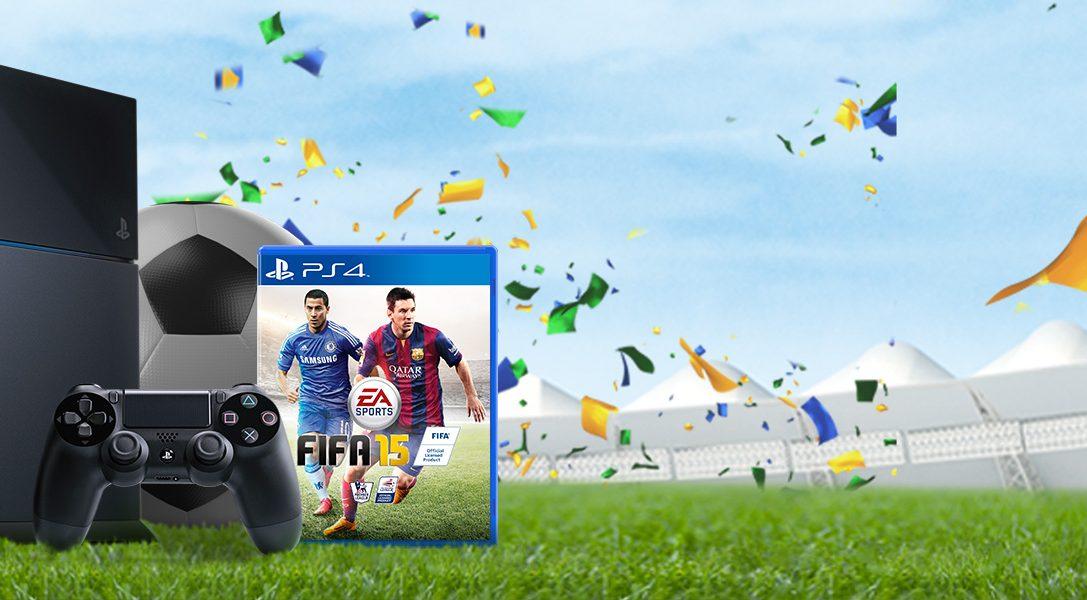 Nur für kurze Zeit: PS4 + FIFA15 für nur 399,95 €*