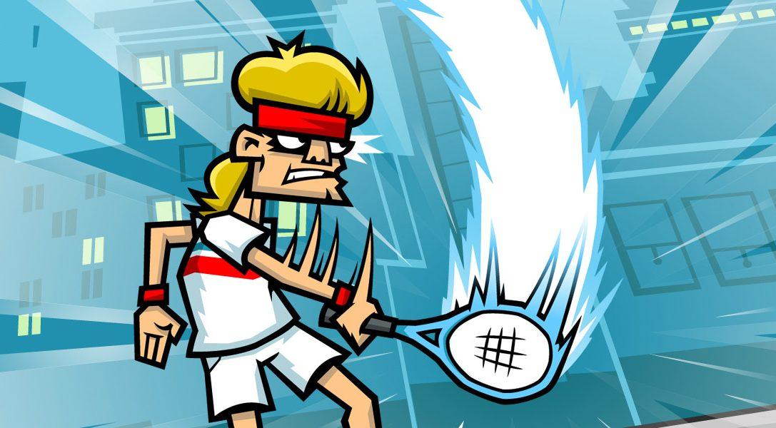 Sorgt für Gerechtigkeit in Tennis in the Face – ab heute auf PS4 erhältlich