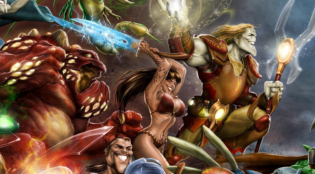 Das Free-to-play-MOBA Invokers Tournament erscheint heute für PS4 und PS Vita