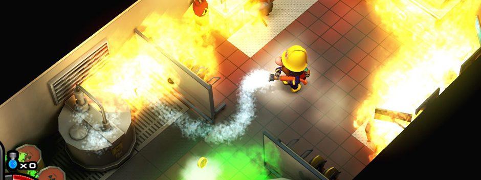 Das brandheiße Rogue-like-Feuerwehr-Spiel Flame Over erscheint nächste Woche auf PS4