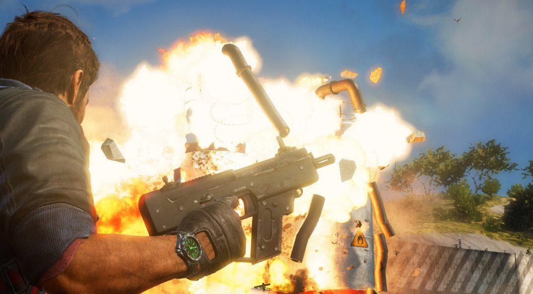 Mit Rico mitten in die Action im neuen Gameplay-Trailer zu Just Cause 3