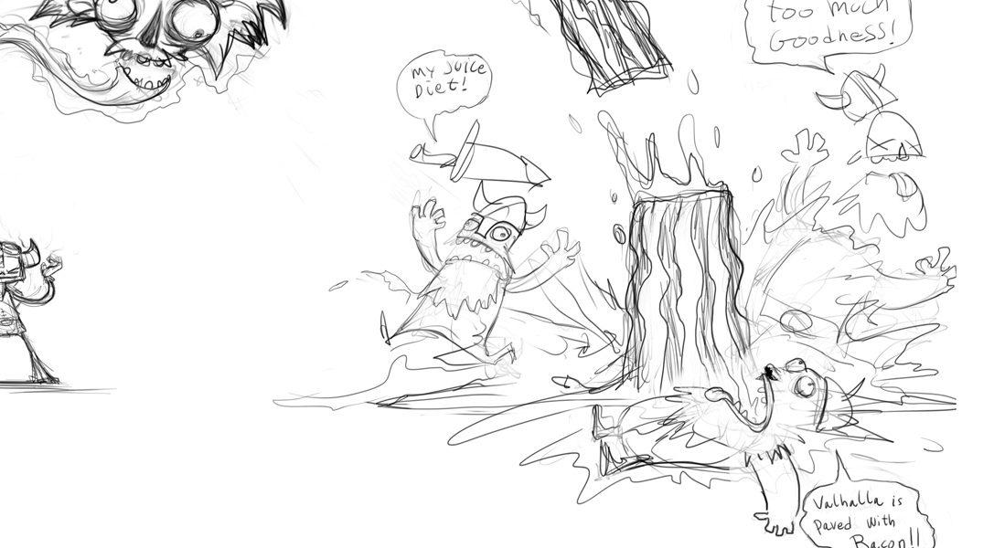 Raz von den Psychonauts schließt sich den Zombie Vikings an