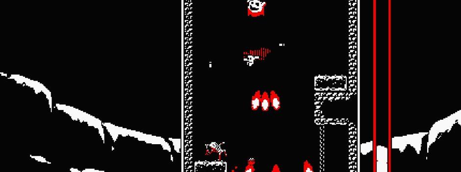Das hektische vertikale Plattform-Hitspiel Downwell erscheint diesen Monat für PS4 & PS Vita