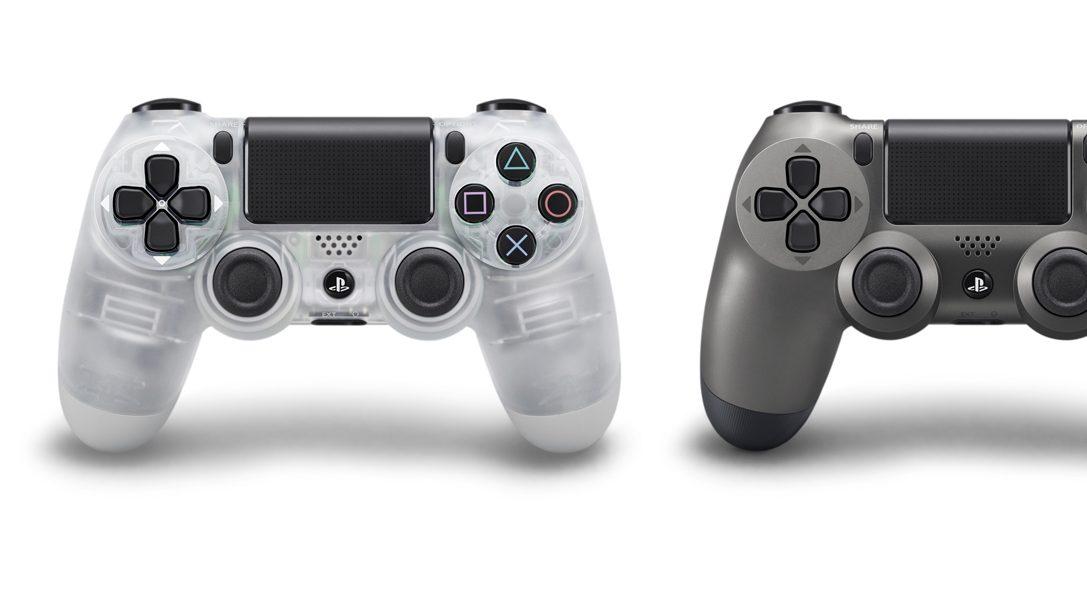Dualshock 4 Wireless-Controller in Crystal und Steel Black ab Juli erhältlich