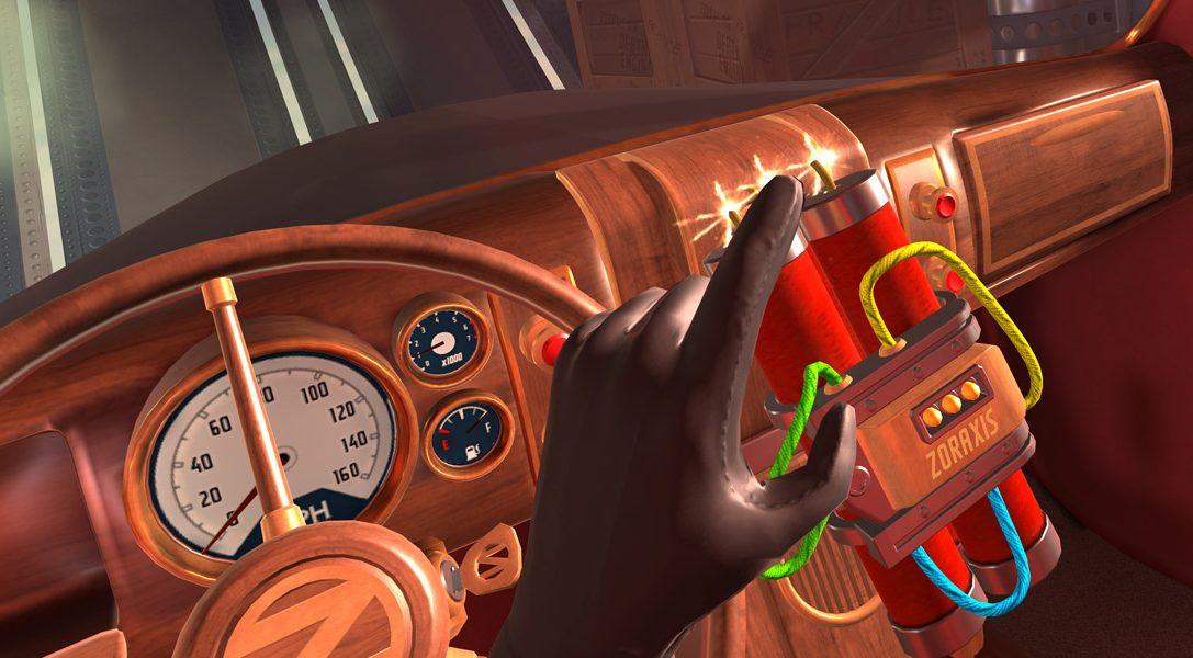 Im Spionagespiel I Expect You To Die für PlayStation VR erwartet euch ab Dezember der Tod im Überfluss