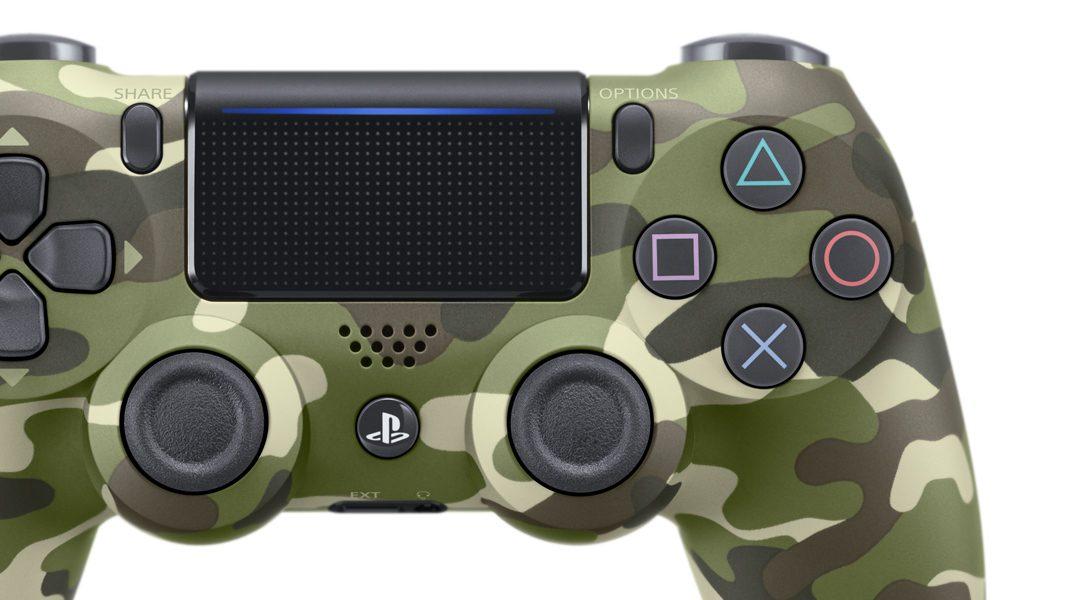DUALSHOCK 4 in neuer grüner Camouflage-Optik enthüllt