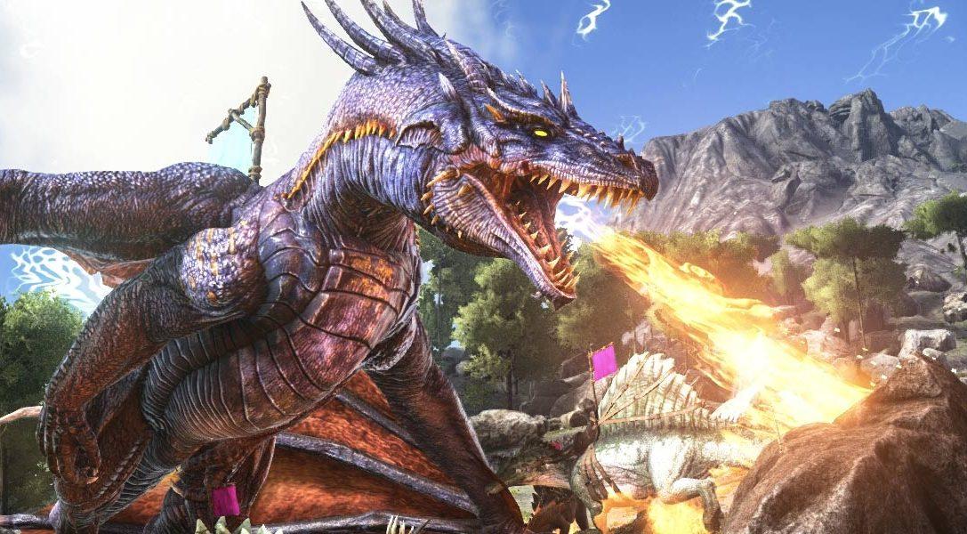 Ark: Survival Evolved für PS4 jetzt erhältlich; überlebt in einer Online-Welt zwischen Dinosauriern und euren Mitspielern