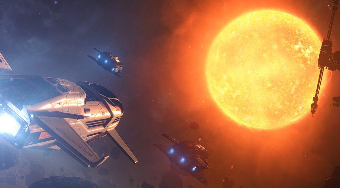 Erforscht, handelt oder kämpft in der gesamten Galaxie in der Space-Sim Elite: Dangerous, die 2017 für PS4 kommt.