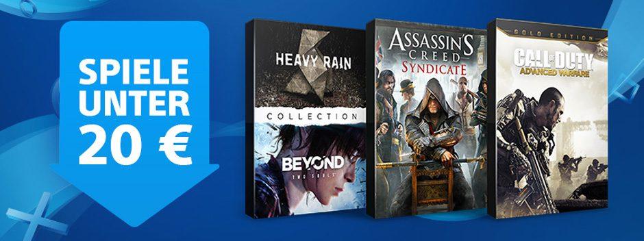 Neue Spiele unter €20-Preisnachlässe starten heute im PlayStation Store
