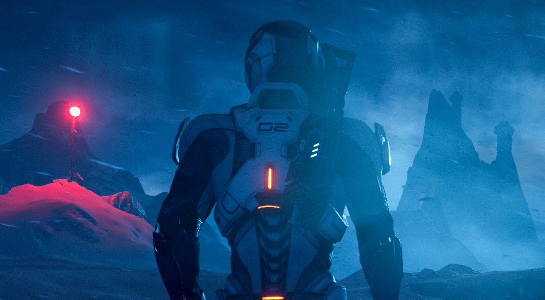 Das Mass Effect Andromeda Initiative-Team beim Astronautentraining mit der European Space Agency