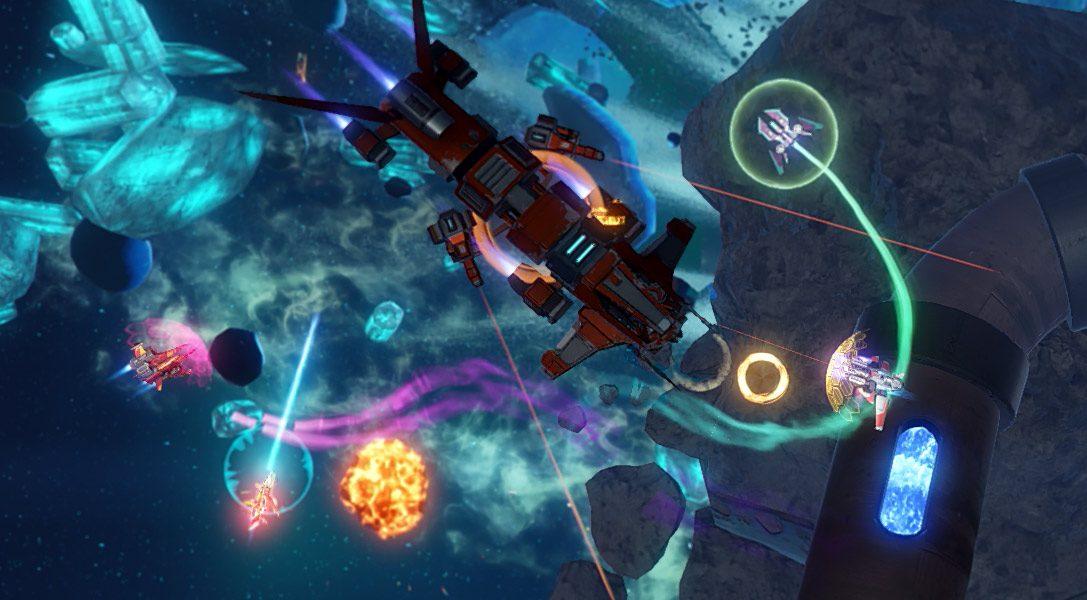 Climax Studios stellt RiftStar Raiders vor, ihr Koop-Shoot-'em-up für vier Spieler auf PS4