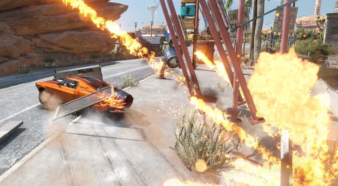 Warum die Wüste die perfekte Kulisse für die brachiale Rückkehr des Arcade-Rennspiels Flatout für PS4 ist