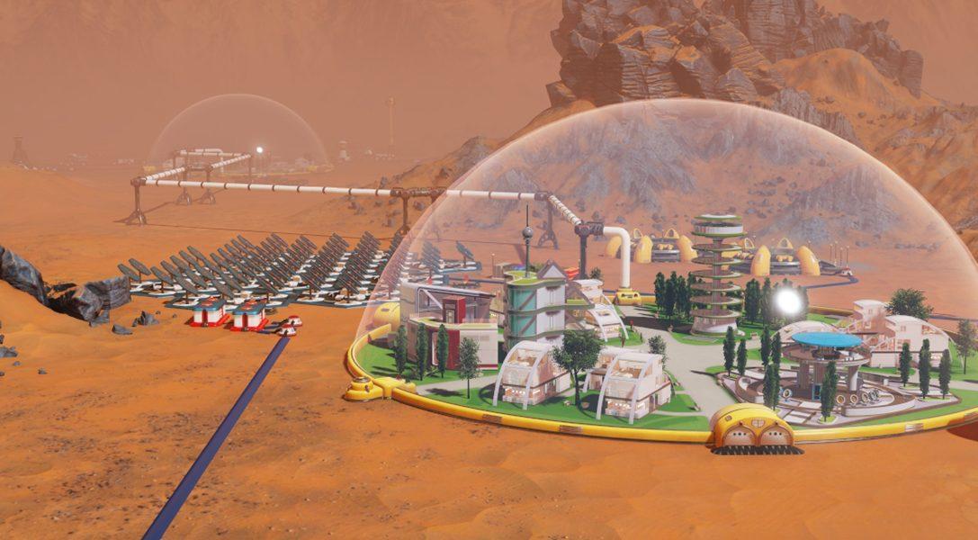 Widmet euch bei Surviving Mars auf PS4 der Verwaltung interplanetarer Kolonien