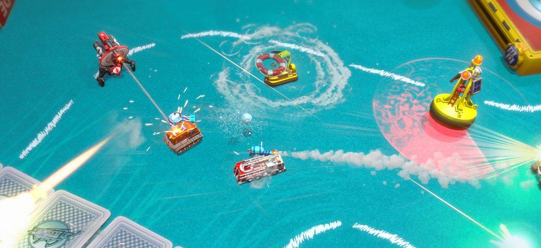 Weicht hungrigen Nilpferden aus und kämpft in G.I. Joe-Panzern in Micro Machines World Series, jetzt für PS4 erhältlich