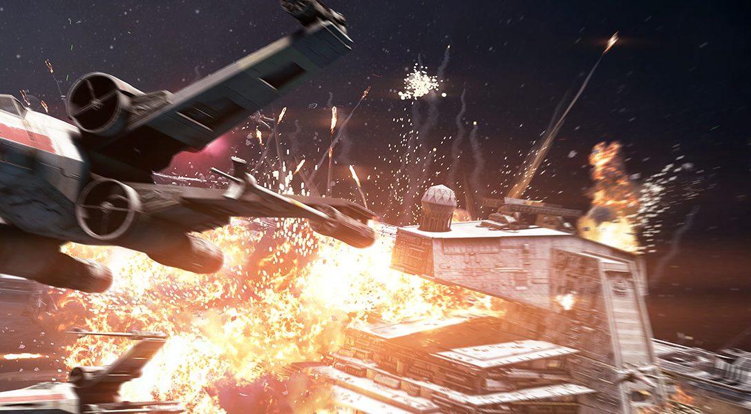 Explosiver erster Blick auf den Sternjäger Angriff Modus von Star Wars Battlefront II