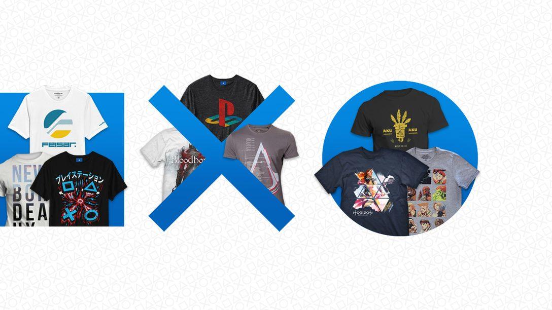 Neue PlayStation Gear-Angebote – spart bei T-Shirts mit Motiven von Horizon Zero Dawn, Overwatch, Crash Bandicoot und mehr