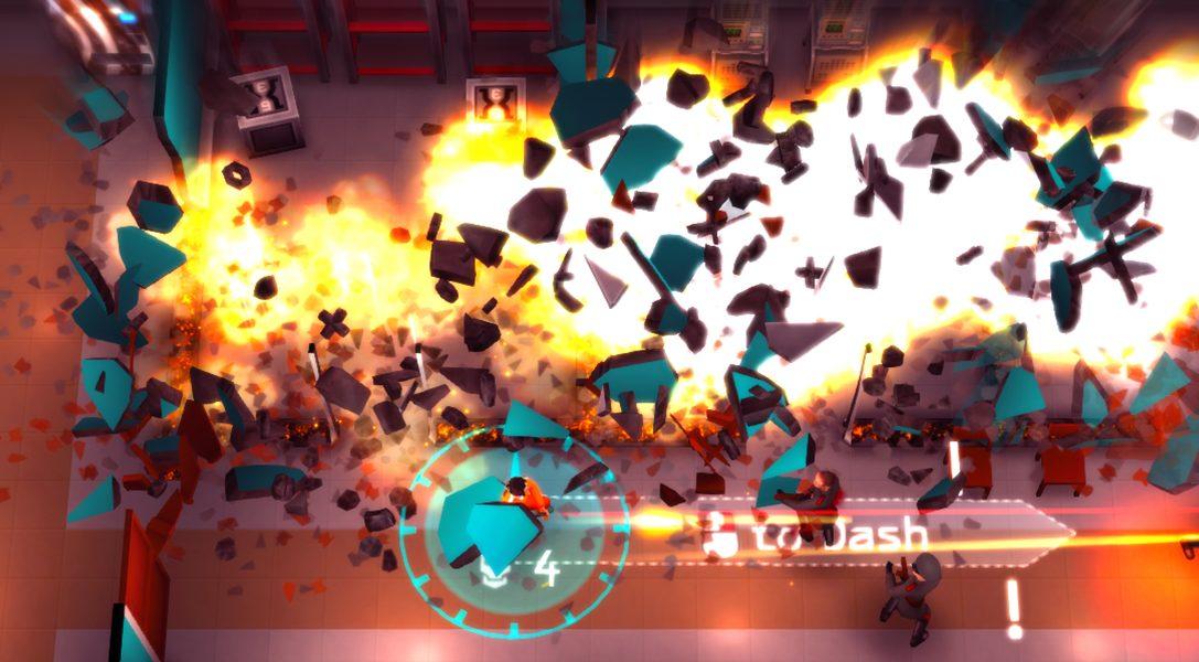 Der Strategie-Twin-Stick-Shooter Time Recoil kommt am Dienstag auf PS4