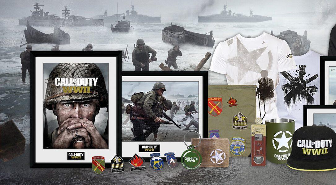 Neue Merchandise-Artikel zu Call of Duty: WWII sind bei PlayStation Gear eingetroffen
