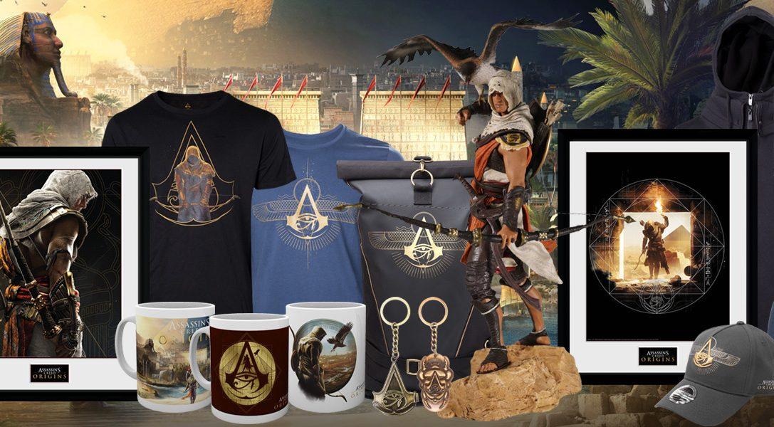 Neue Merchandising-Artikel für Assassin's Creed Origins jetzt bei PlayStation Gear verfügbar
