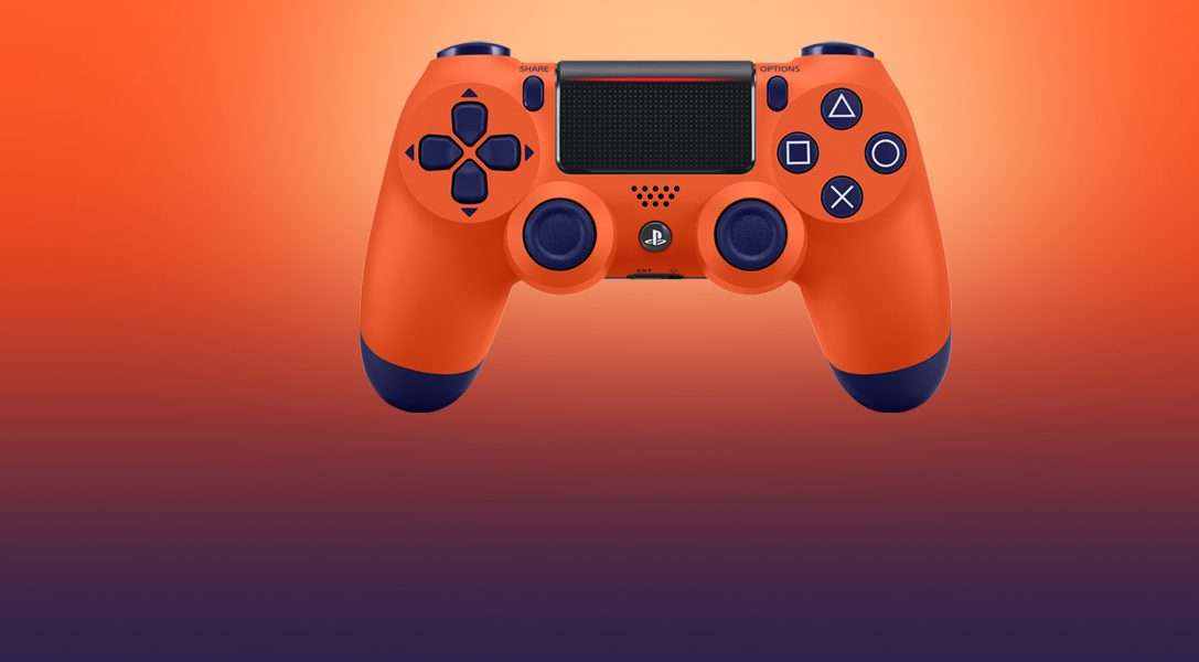 Wir präsentieren den Sunset Orange DUALSHOCK 4 Wireless-Controller – ab 14. November erhältlich