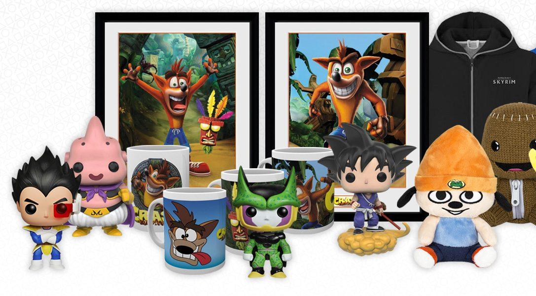 Die Top 5 Neuerscheinungen bei PlayStation Gear, inklusive Pop! Vinyl Modellen & Crash Bandicoot Merchandise