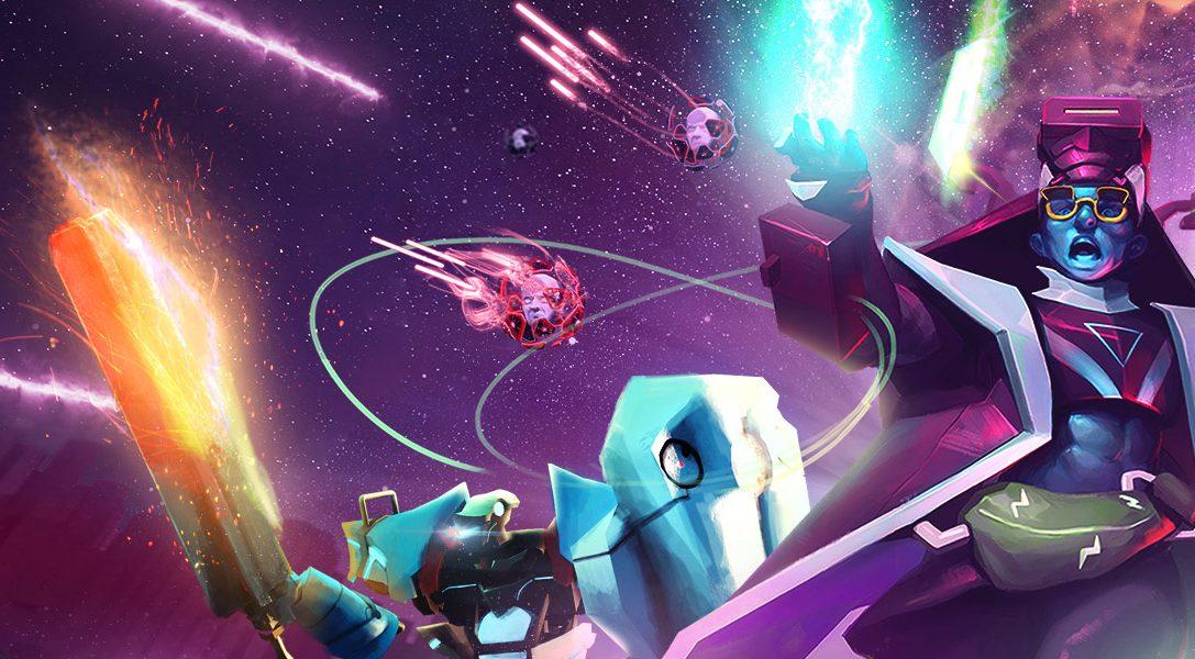 Stellt euch ab dem 27. Februar dem Angriff digitaler Gegner im erbarmungslosen PS VR-Shooter Blasters of the Universe