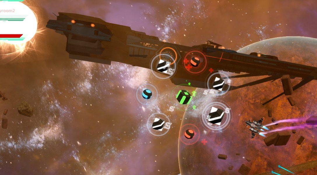 Kämpft ab nächster Woche im Sci-Fi-Arcade-Shooter Riftstar Raiders für PS4 um die beste Beute