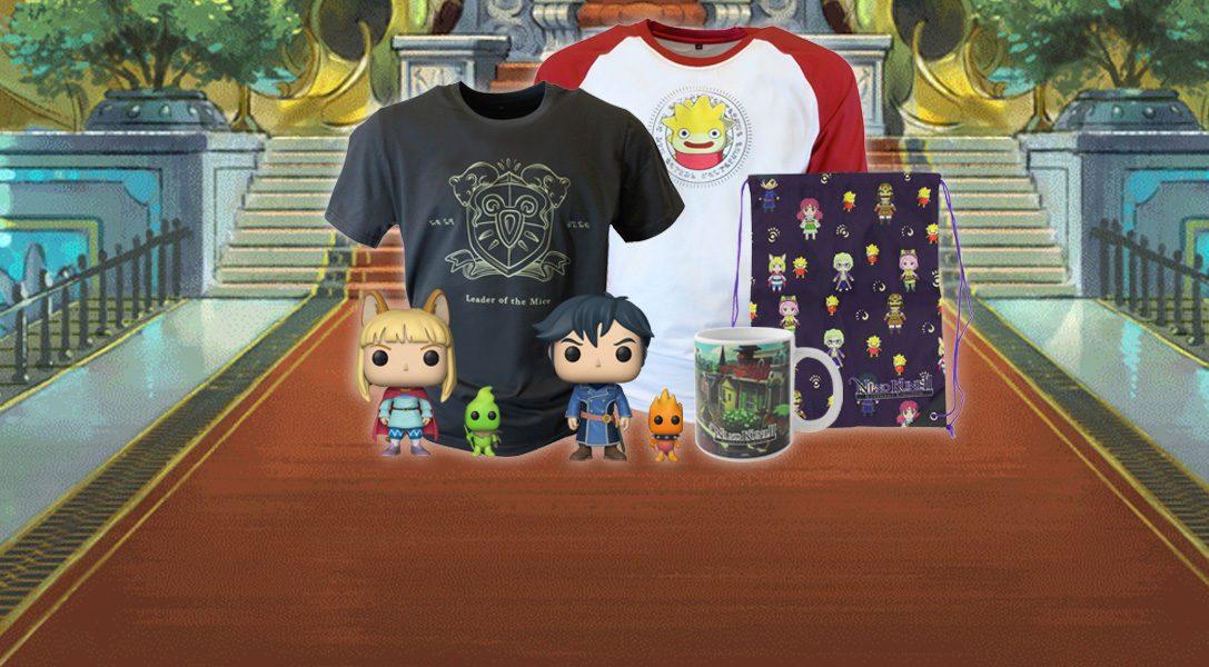 Die Ni no Kuni II: Schicksal eines Königreichs Merchandise-Kollektion ist auf PlayStation Gear erhältlich
