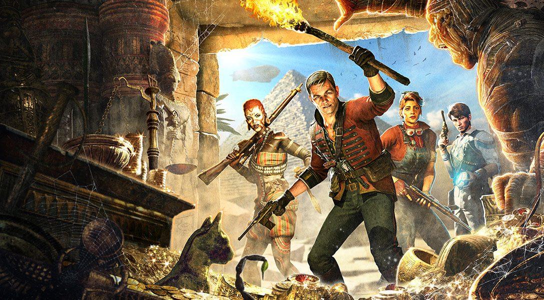 Im Koop-Shooter Strange Brigade für PS4 absorbiert ihr Seelen, um Magie einzusetzen, und geht auf Schatzsuche