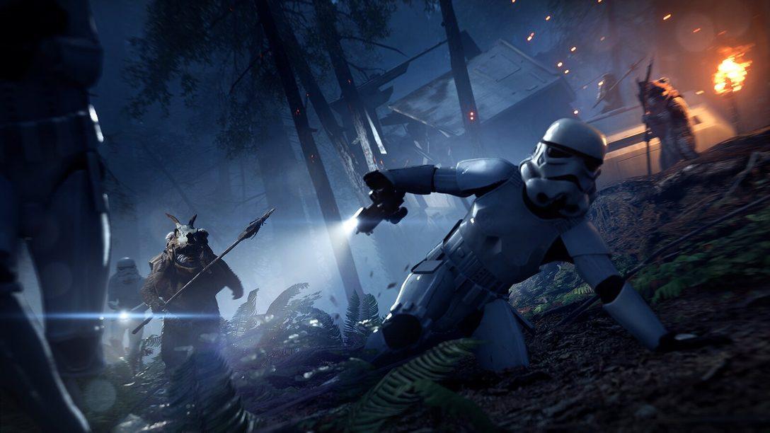 Star Wars Battlefront II:  Night on Endor Update mit nur für kurze Zeit verfügbarem Modus Ewok Hunt