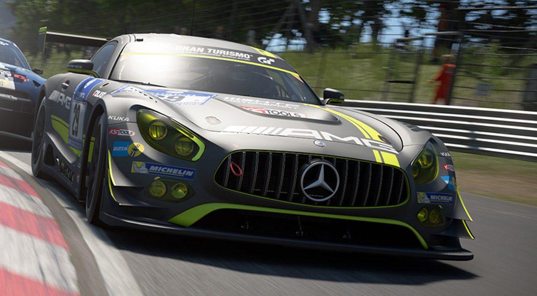 Die Zielflagge für das erste GT Sport World Tour Event ist in Sichtweite