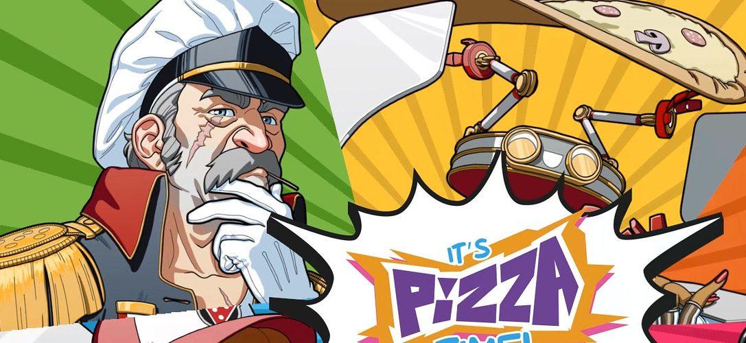 Versucht in Pizza Titan Ultra die Stadt nicht zu verwüsten, während ihr Pizzen in einem gigantischen Mech-Suit ausliefert