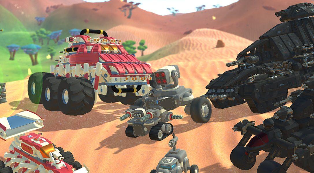 Baut Autos, Flugzeuge und mehr, und kämpft damit in TerraTech gegen eure Freunde – erhältlich auf PS4 ab 14. August
