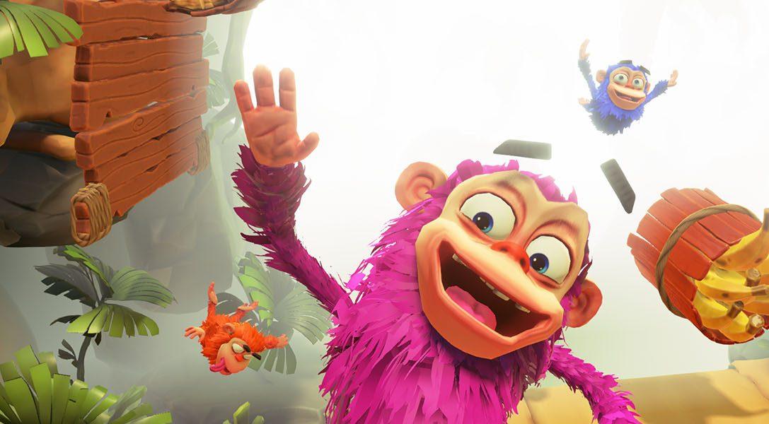 In Chimpartys vielen Minispielen wird's affig – ab 14. November auf PlayLink