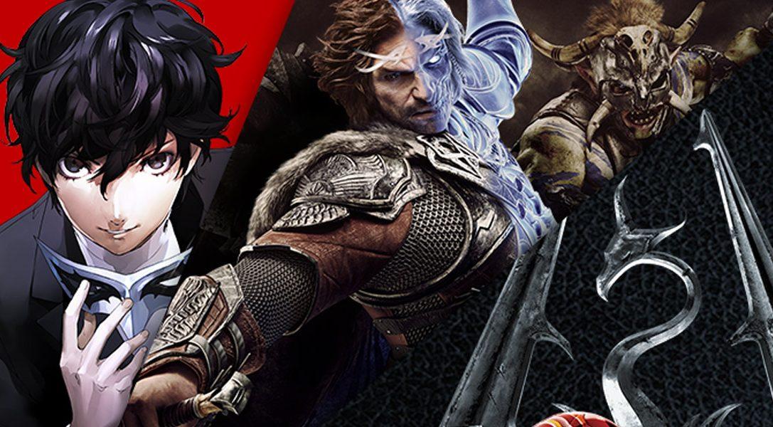 """Die """"Spare bis zu 60%"""" Aktion startet heute im PlayStation Store mit Titeln wie Persona 5, Gran Turismo, Mittelerde: Schatten des Krieges und vielen mehr"""