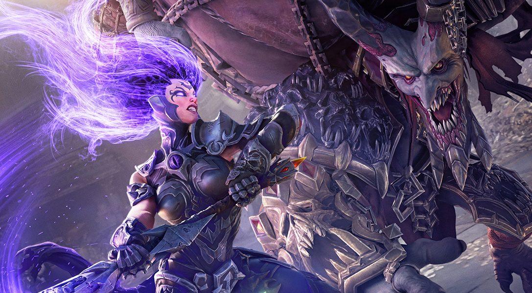 Fury aus Darksiders III schwingt eine Peitsche mit 347 Klingen