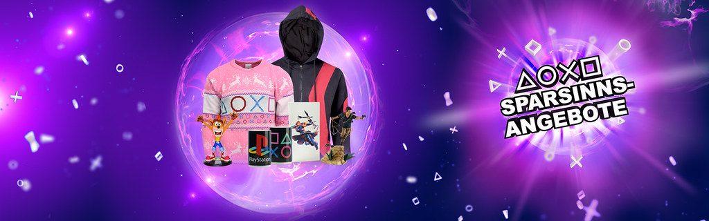 Rabatt auf Hunderte von Produkten bei den Sparsinns-Angeboten von PlayStation Gear