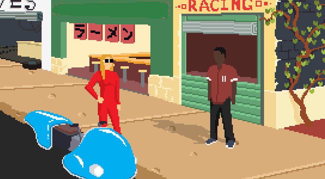 Erlebt Hoverbike-Rennen zum Klang eines Lo-Fi-Hip-Hop-Soundtracks im Scifi-RPG Desert Child