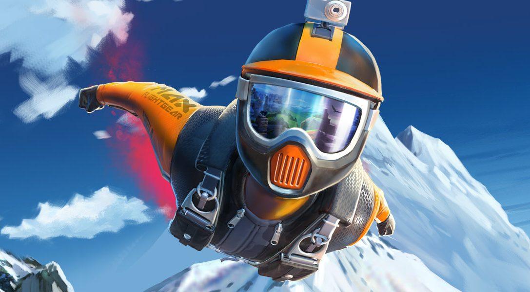 Erlernt die Grundlagen des Wingsuitfliegens vor dem morgigen Launch des Extremsporttitels RUSH VR für PS VR