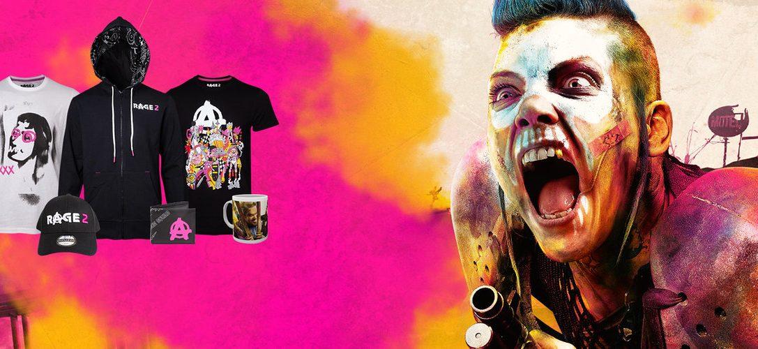 Offizielle Fanartikel für Rage 2 jetzt bei PlayStation Gear erhältlich