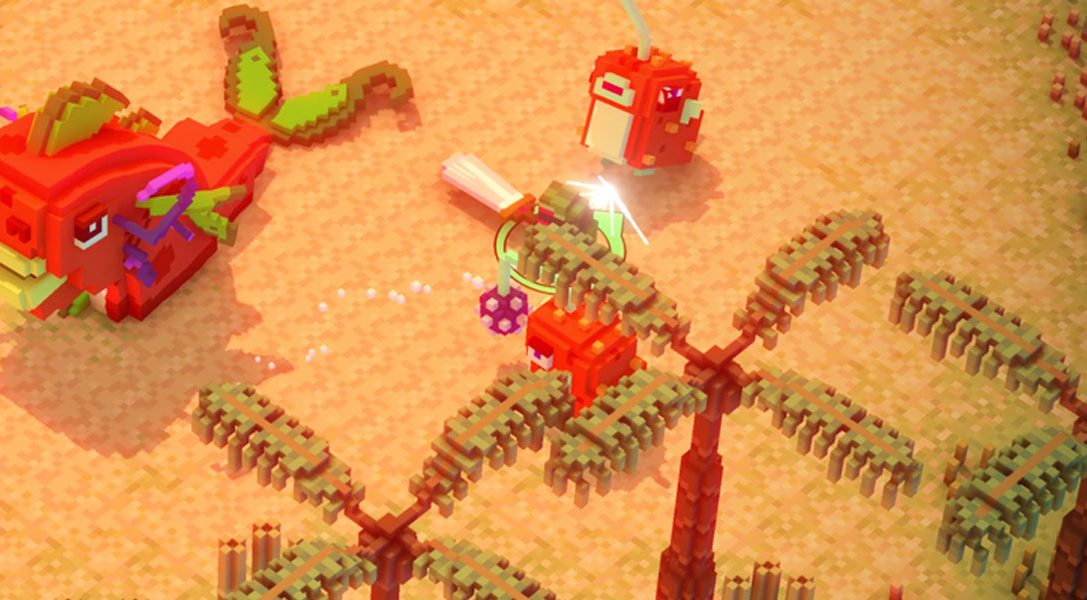 Riverbond ist ein Voxel-Shoot-and-Slash-Spiel mit Indie-Crossovern
