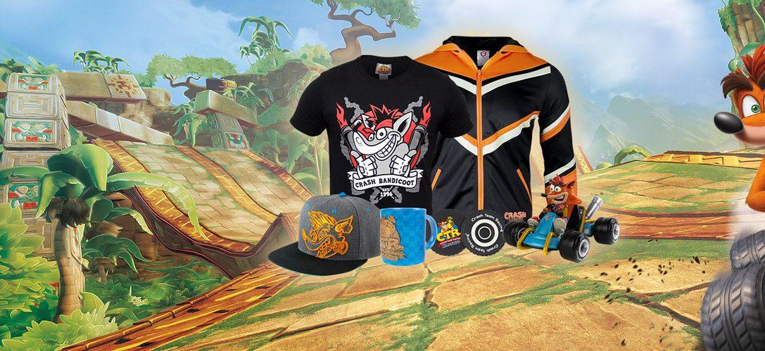 Offizielles Merchandise zu Crash Team Racing Nitro-Fueled jetzt auf PlayStation Gear erhältlich