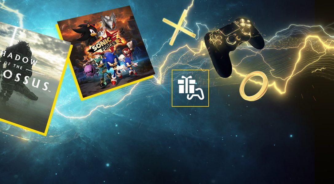 Shadow of the Colossus und Sonic Forces sind eure PS Plus-Spiele für den März