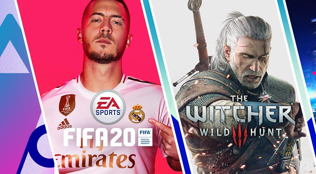 Bonusrunde im PS Store mit FIFA 20 Champions Edition, The Witcher 3: Wild Hunt GOTY Edition und mehr