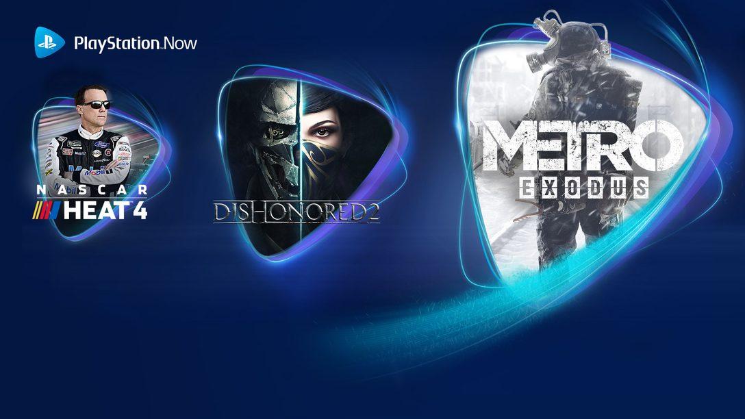 Metro Exodus, Dishonored 2 und NASCAR 4 bekommt ihr im Juni über PS Now