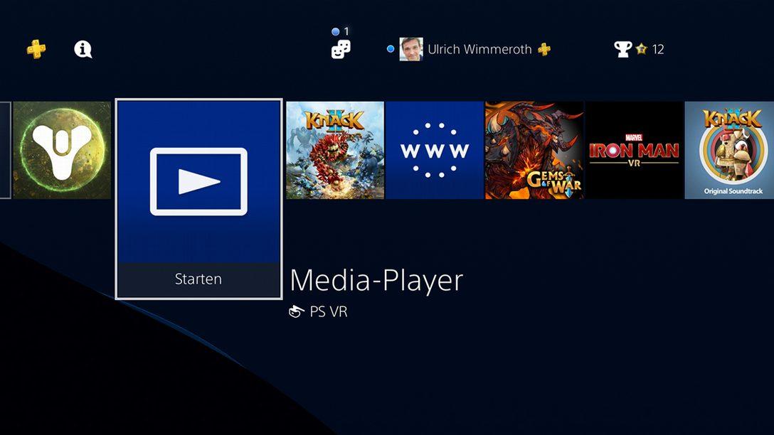 Media-Player: Eigene Musik und Videos auf eurer PS4 abspielen