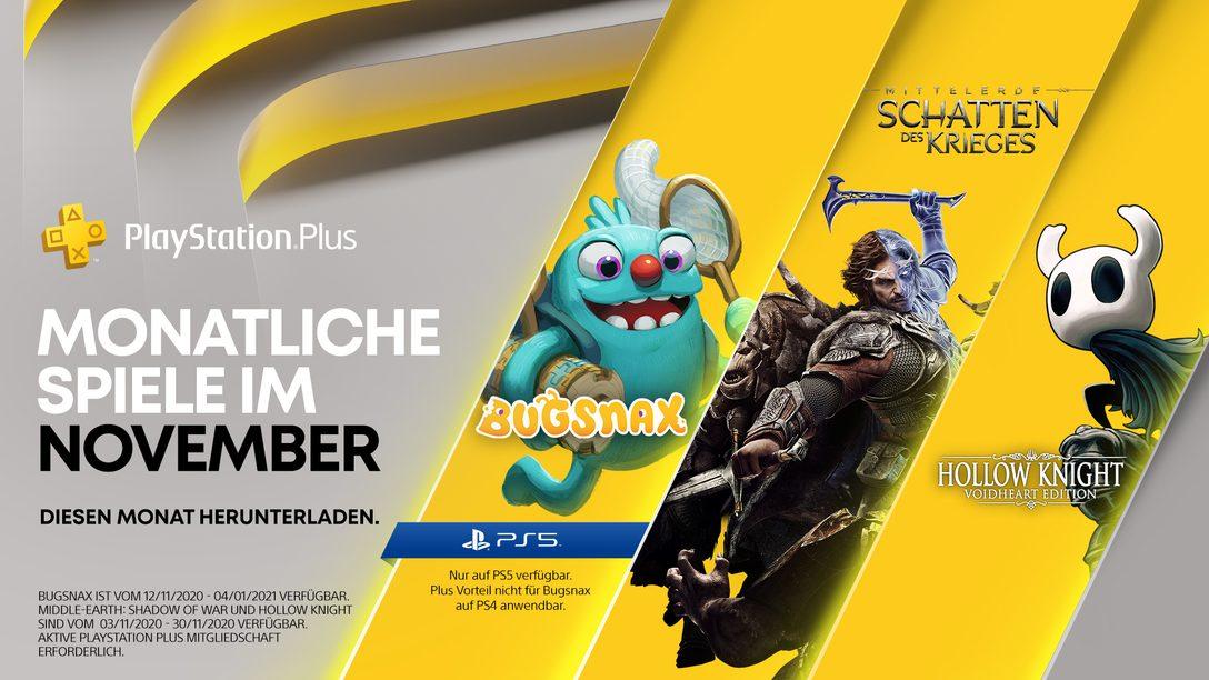 Details zur PlayStation Plus Collection Details + November-Spiele für PlayStation Plus