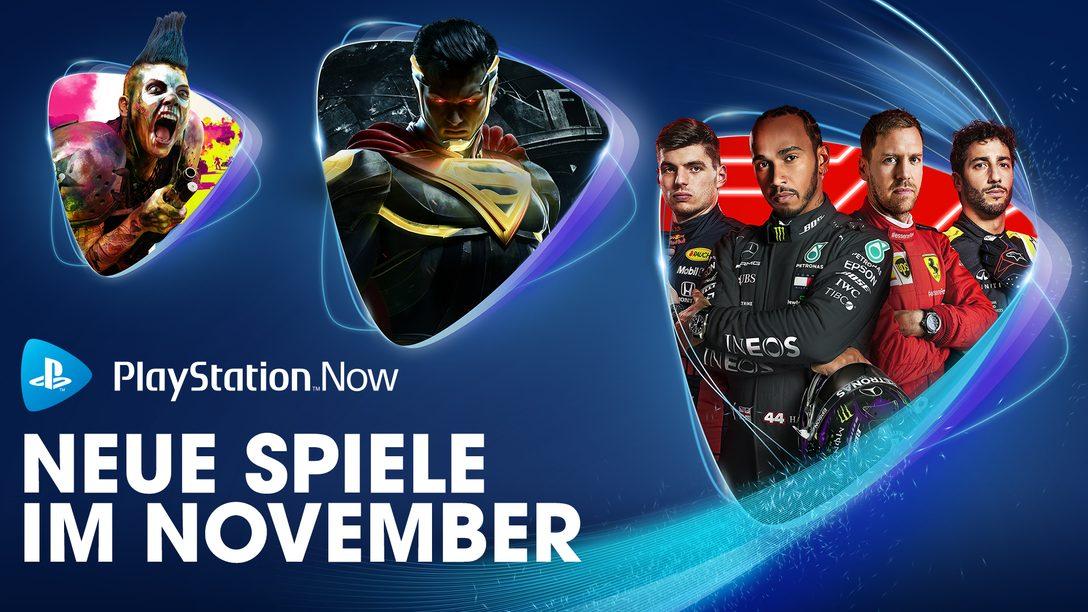 F1 2020, Injustice 2 und Rage 2 sind eure PS Now-Spiele im November